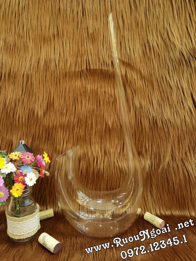 Bình Đựng Rượu Vang - Decanter Dáng Đẹp M02