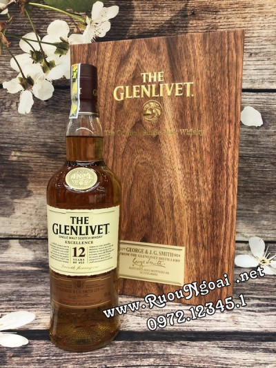 Rượu Glenlivet 12YO Hộp Quà 2018