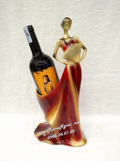 Kệ Rượu Vang Thiếu Nữ Áo Dài Ms 02