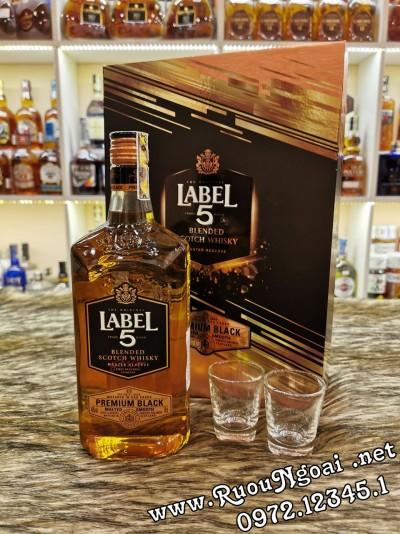 Rượu Label 5 Premium - Hộp Quà