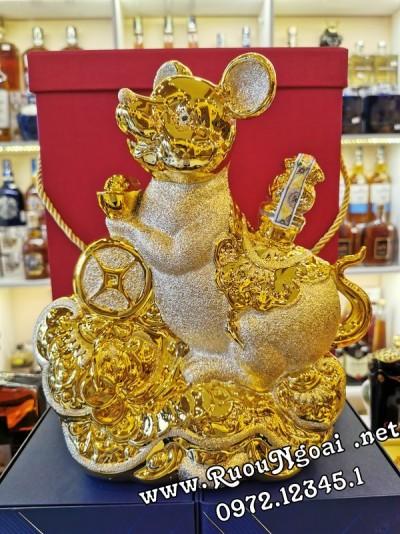 Rượu Phong Thủy Chuột Sứ Vàng 2020