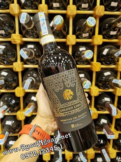 Rượu Vang Ý GOLDEN LION PRIMITIVO DEL SALENTO