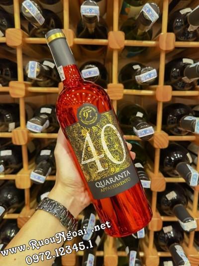Rượu vang Ý 40 Quaranta Appassimento