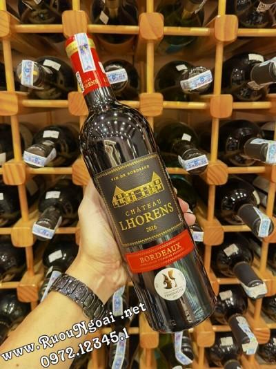 Rượu vang Pháp Chateau Lhorens